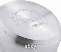 12-Piece Stainless Steel Cookware Pan Set, Pot Pans Induction Safe Glass Lids
