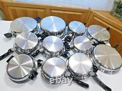 16pc PRO HEALTH ULTRA Waterless Cookware 19-9 Titanium Stainless Steel NEW ERA