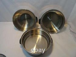 17 pc Set Chef's Ware Townecraft 5 -Ply Multi-Core T304 Stainless Steel Cookware