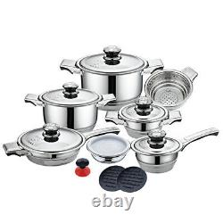 17pcs Royal Z Series Cookware Set 9 Layers Stainless Steel 18/10 Kitchenware