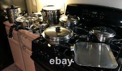 20 Piece Vintage Saladmaster 18-8 Cookware Set-Electric Skillet Dallas USA