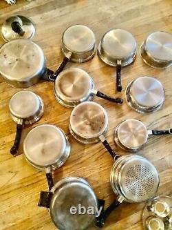 20 piece SALADMASTER T304S Waterless Cookware Stainless Steel pot pans skillet