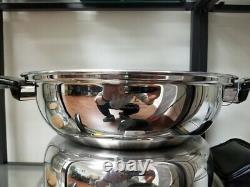 316 Ti WATERLESS STAINLESS HEALTH COOKWARE VERSATILE WOK SET All 7 Ply