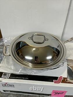ALL-CLAD 6412 SS Copper Core 5-ply Bonded Cookware, 12 Chef's Pan with Domed Lid