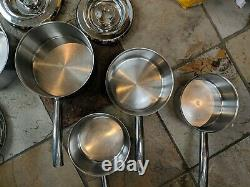 Aga Stainless Steel Pots/pans set of 6 cookware