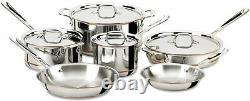 All-Clad 6000 7SS Copper Core 5-Ply Bonded Dishwasher Safe 10 Piece Cookware Set