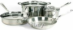 All-Clad 6000-7 SS Copper Core 5-Ply Bonded Dishwasher Safe 7 Piece Cookware Set