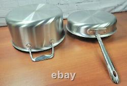 All-Clad Brushed D5 Stainless 7-Piece Cookware Set Fry Sauce Saute Pan Stock Pot