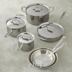 All-Clad D5 Polished 5-Ply Bonded Dishwasher Safe 11 Piece Cookware Set