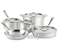 All-Clad MC2 Professional Stainless Steel 9 Piece Cookware set