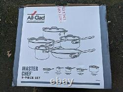 All-Clad Master Chef Complete 9 Piece Cookware Set