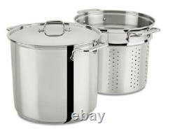 All-clad Stainless Steel 16-Quart Multi Cooker Cookware Set with Lid