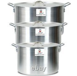Aluminium Casserole Pan 9 10 11 Cookware Cooking Saucepan Pot Set with Lid
