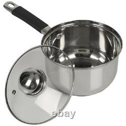 Berger 10pc Stainless Steel Cookware Set Saucepans Lid Cooking Food Frying Pans