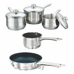 Buckingham 5 Piece Induction Saucepan Cookware Pot Pan Set Stainless Steel Lid