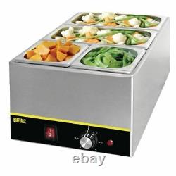 Buffalo Bain Marie With Pans Stainless Steel Pot Cookware Electric Warmer
