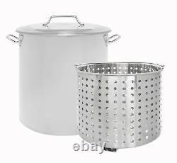 CONCORD Stainless Steel Stock Pot withSteamer Basket Cookware For Boiling Steaming