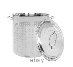 CONCORD Stainless Steel Stock Pot with Steamer Basket Cookware Boiling Steaming