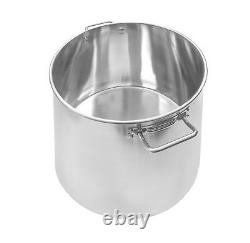 CONCORD Stainless Steel Stockpot Brew Kettle with Lid. Heavy Cookware Beer Hops