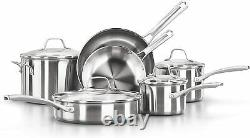 Calphalon Classic Pots And Pans Set 10-Piece Cookware Set Stainless Steel