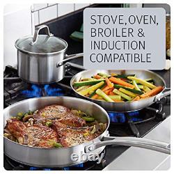 Calphalon Classic Pots And Pans Set, 10-Piece Cookware Set, Stainless Steel