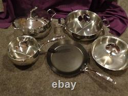 Chef Series Cookware 9 PC Professional Set. ON SALE. Stainless Steel