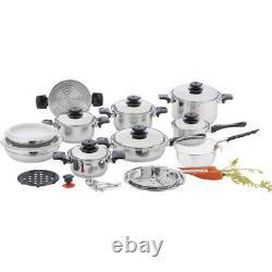 Chef's Secret 28pc 12-Element Stainless Steel Kitchen Appliance Cookware Set