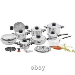 Chefs Secret 12-element T304 Stainless Steel 28pc Cookware Set- 12 Elem Ss Co