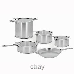 Cristel Strate Removable Handle 13-Pc Stainless Steel Cookware Set