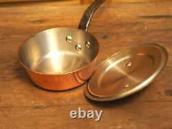 De buyer 2.5mm copper stainless steel conical sauté pan and lid