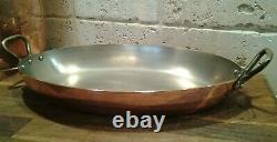 Dehillerin Paris/Cuprinox Stainless Steel Copper Oval Gratin/Roasting Pan 12x8