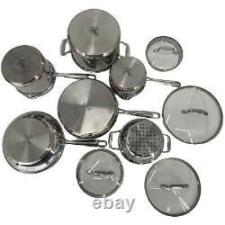 Emeril Lagasse All Clad Cookware 10 Pc. Set Stainless Steel Copper Core Steamer