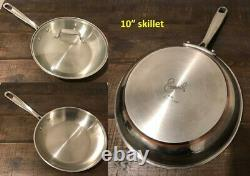 Emeril by All Clad 11 PC SET Stainless Steel Copper Core Cookware Pots Pans