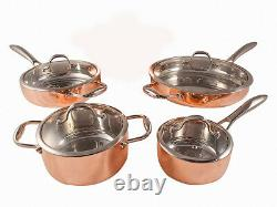 Fancy Cook 5-ply Copper 8 Piece Cookware Set, Clearance Sale