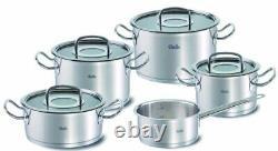 Fissler Original-Profi Collection 9-Piece Cookware Pot Set with Glass Lids NEW