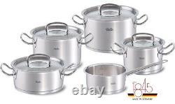 Fissler Original-Profi Collection 9-Piece Cookware Set With Stainless Steel Lids