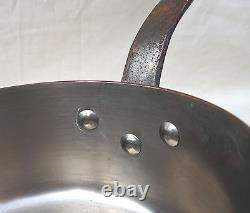 French Cookware Stainless Steel Lined Copper Set 5 Sauce Pans 1 Skillet