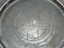 GRISWOLD SLANT LOGO BEAN POT/CAULDRON WithOUT LID EARLY 1900'S GUC