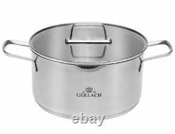 Gerlach Ambiente Set Of Pots 10 Pcs Cookware Stewpots Glass Lids Pot LID New