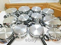HUGE Cordon Bleu Waterless Cookware 7Ply T304 Stainless Copper MP5 Elec Skillet