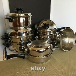 Huge 22 Piece Kitchen Craft Waterless Stainless Cookware