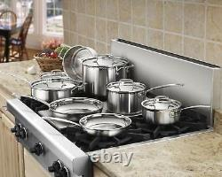 Industrial Stainless Steel Cooking Set Chef Cookware Dishwasher Safe Pots 12-pcs