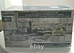 Kirkland Signature 5-Ply Clad Stainless Steel Cookware Set