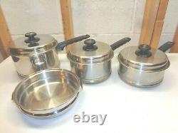 LIFETIME Cookware 7 Pc. 18-8 Stainless Steel Saucepans & Lids