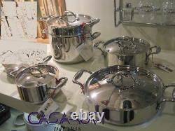 Lagostina ACCADEMIA LAGOFUSION Cookware Set 5 Pcs Stainless Steel 18/10