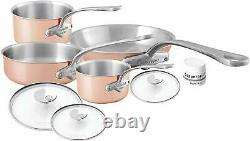 Mauviel M'3 Copper Tri-ply 7 Piece Cookware Set w Stainless Steel Handle 7700.07