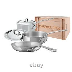 Mauviel M'Cook Stainless Steel 5 Piece Cookware Set