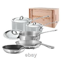 Mauviel M'Cook Stainless Steel 8 Piece Cookware Set