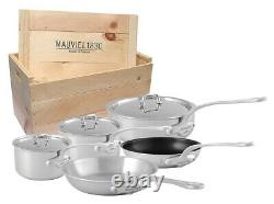 Mauviel M'Urban 8 Piece Cookware Set With Wooden Crate