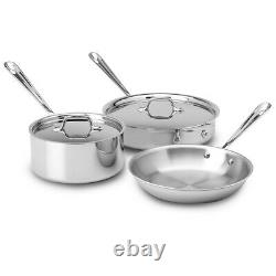 NEW All-Clad Stainless Steel Cookware Set 3pce